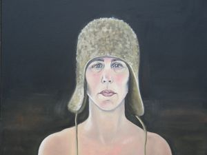 Self-Portrait with Winter Hat