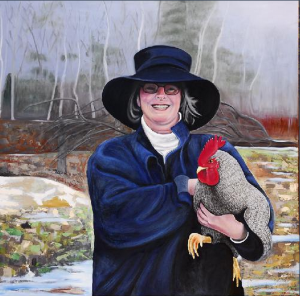 Woman with Rooster