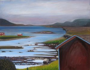 Red barn at L'Anse aux Meadows