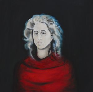 Self Portrait with White Hair